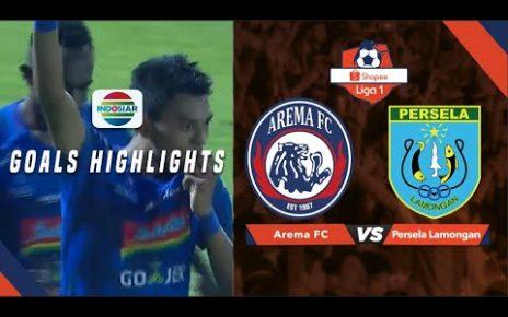 hqdefault 464x290 - Highlight Pertandingan Arema vs Persela ,Senin 27/5/2019