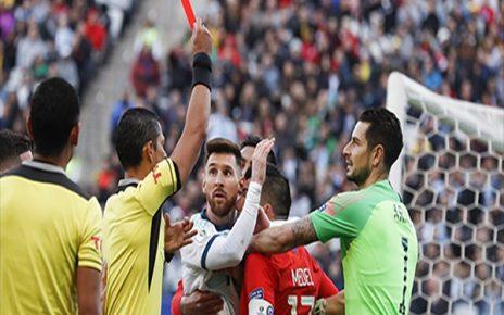 Untitled 1 7 464x290 - Kartu Merah Kedua Lionel Messi Sepanjang Kariernya