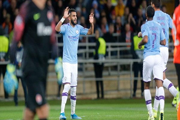 City - Man of the Match Shakhtar Donetsk vs Manchester City: Riyad Mahrez