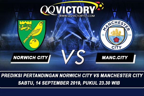 tebak skor liga - Prediksi Norwich City vs Manchester City 14 September 2019